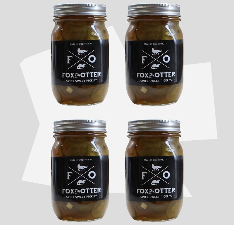4 JARS of F&O Sweet/Spicy Pickles