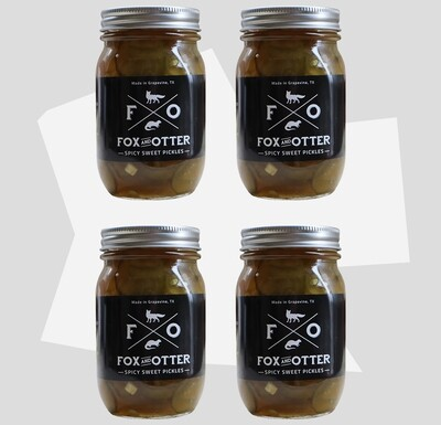 4 JARS of F&O Sweet/Spicy Pickles