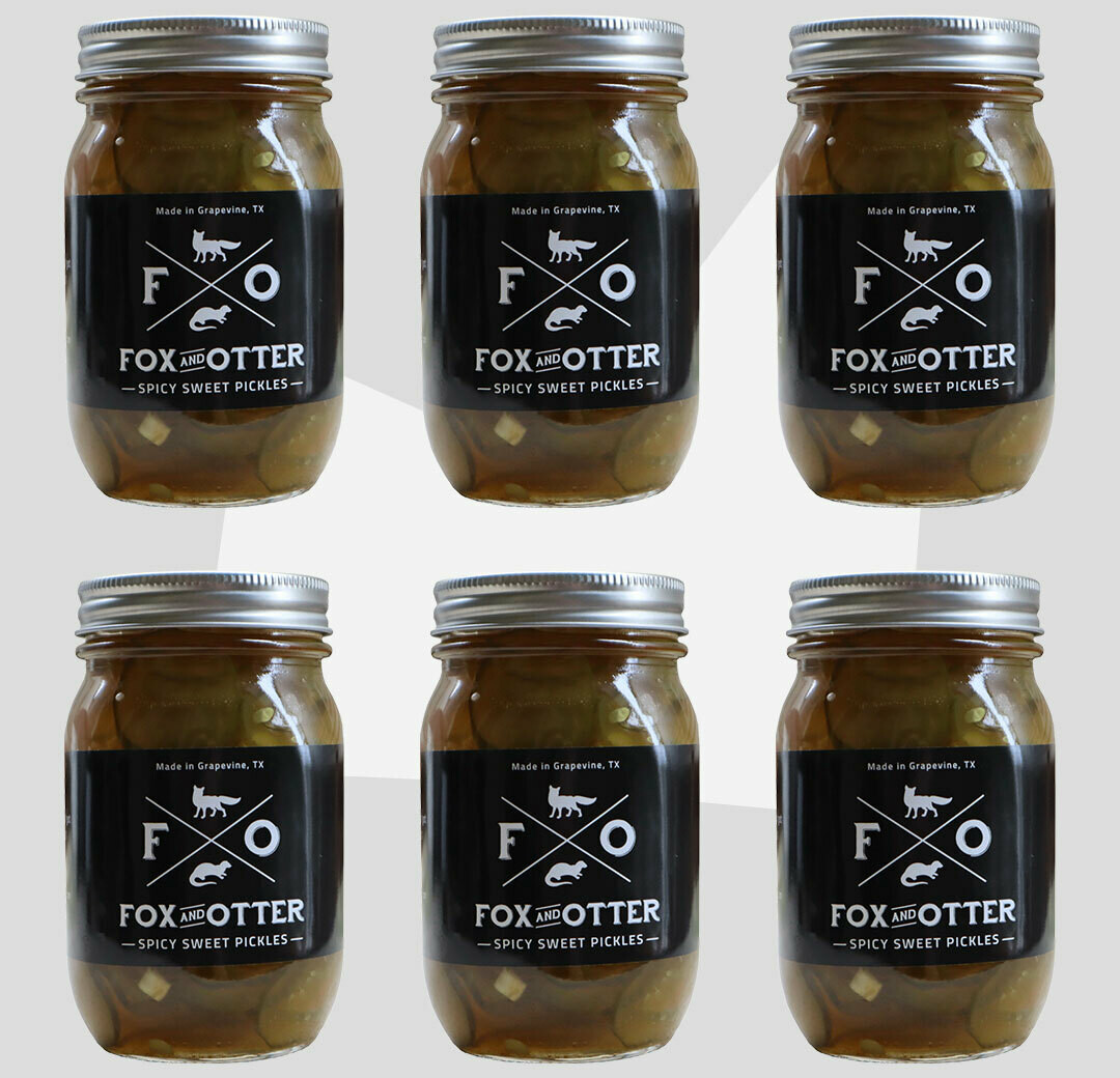 6 JARS of F&O Sweet/Spicy Pickles
