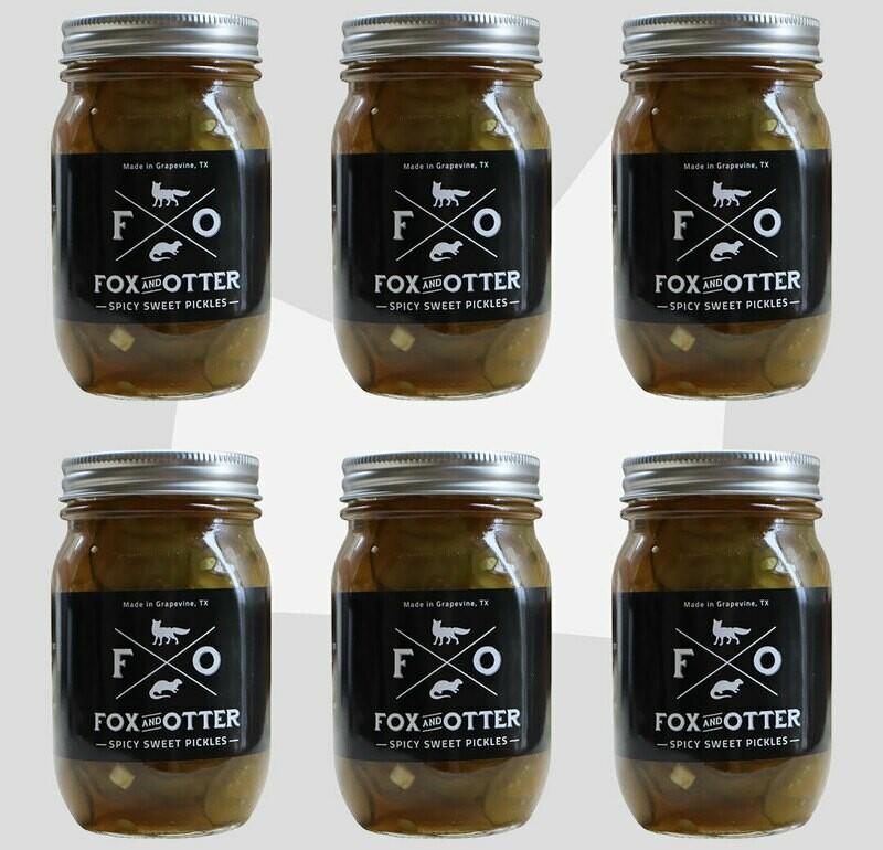 6 JARS of F&O Sweet/Spicy Pickles