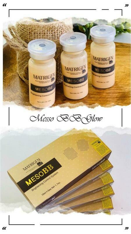 Matrigen Mesowhite BB glow treatment - Brightening Control System