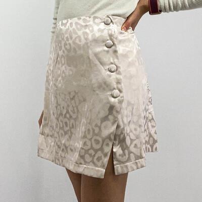 Light Pink Leopard Printed Skirt