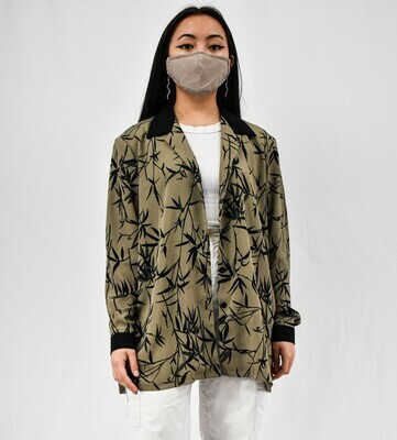 Bamboo Printed Button-up