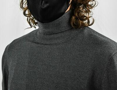 Zara Men's Grey Sweater Turtleneck
