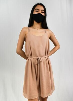 Pink Tie-Front Dress