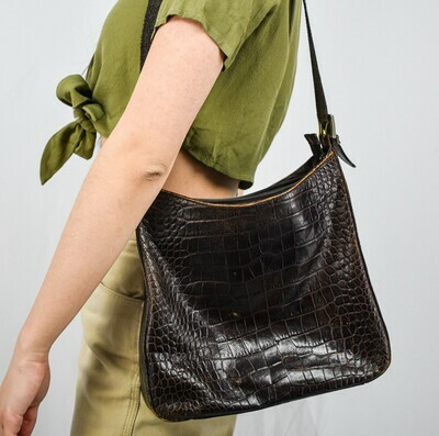 Authentic Brown Leather Bag