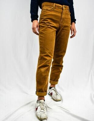 Tan Corduroy High-rise Mom Pants