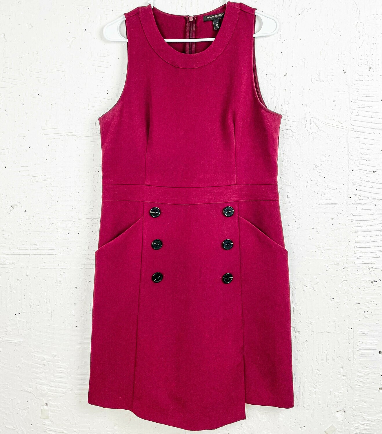 Maroon Buttoned Dress