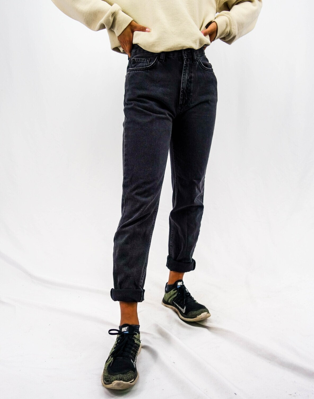 Black High-Rise Mom Jeans