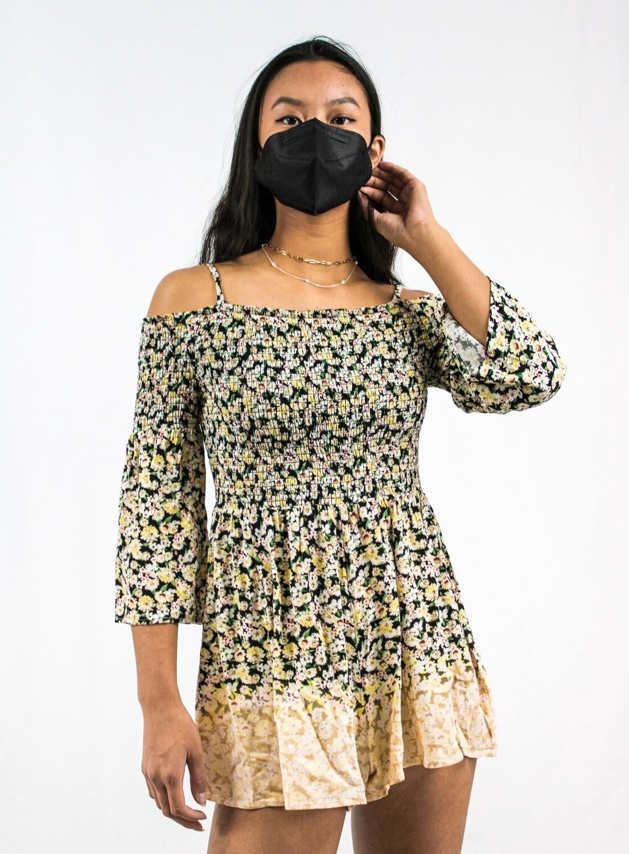 Off The Shoulder Long Sleeve Floral Dress