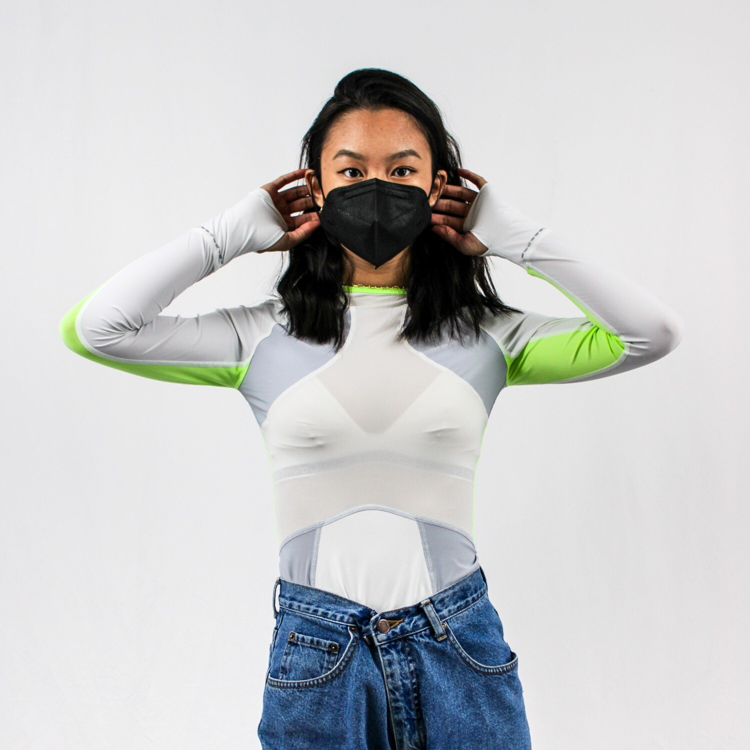 White and Neon Long Sleeve