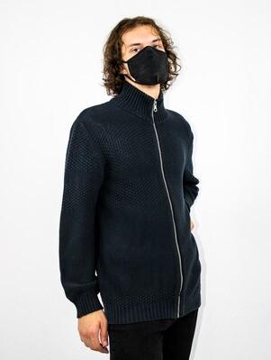 Black Zip-up Cardigan