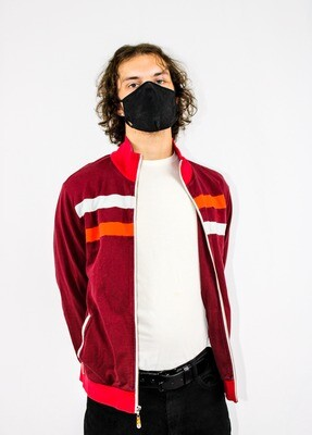 Red Striped Zip-up