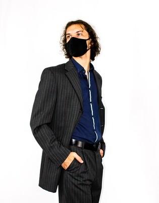Grey Pinstriped Suit (Blazer + Pants Set)