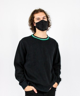 Black and Green Collared Sweater