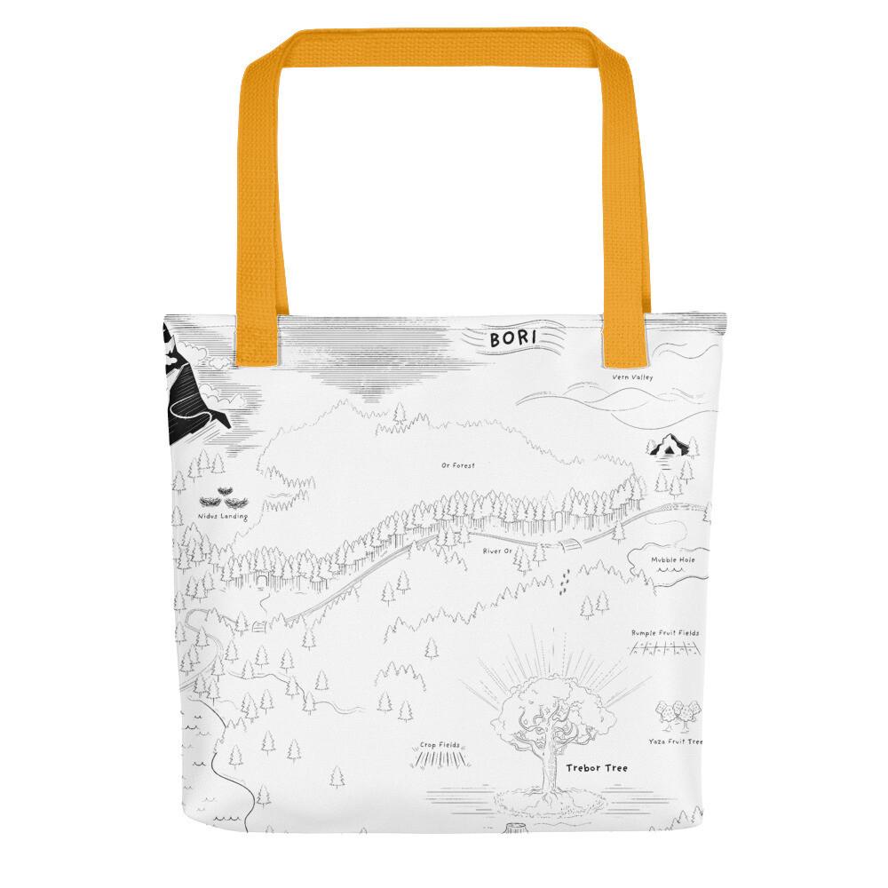 The Trebors Map Tote bag