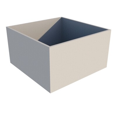 Powder-coated Cube Planter 1000 x 1000 x 550