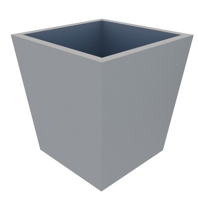 Powder-coated Tapered Planter 380 square top x 300 square base x 400 high