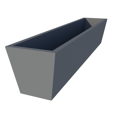 Powder-coated Tapered Planter 1350 top x 1270 base x 260 high