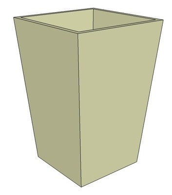 Powder-coated Tapered Planter 600 x 400