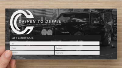 Driven to Detail - Gift Voucher Worth £20