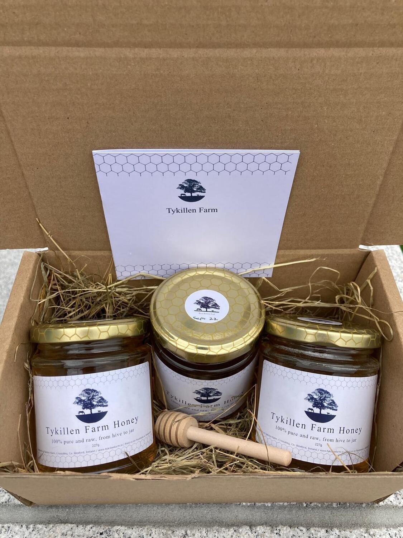 Tykillen Farm 2021 Pure Raw Irish Summer Honey - 3 Pack