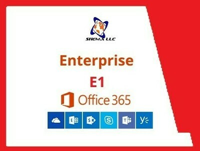 E1 - Office 365 Annual Plan for One 1 seat / year