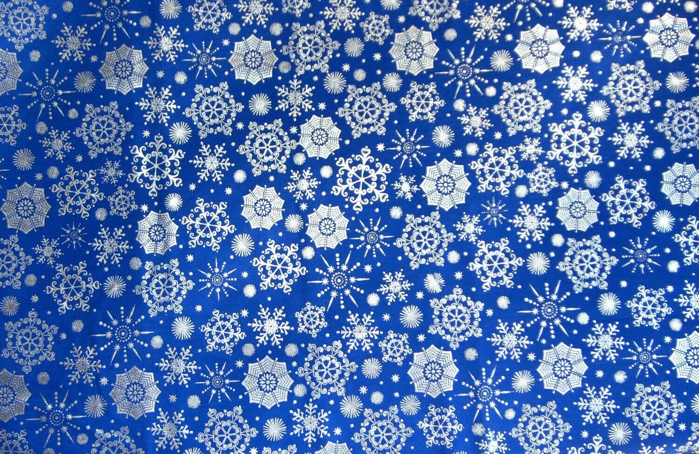 Metallic Blue Snowflake