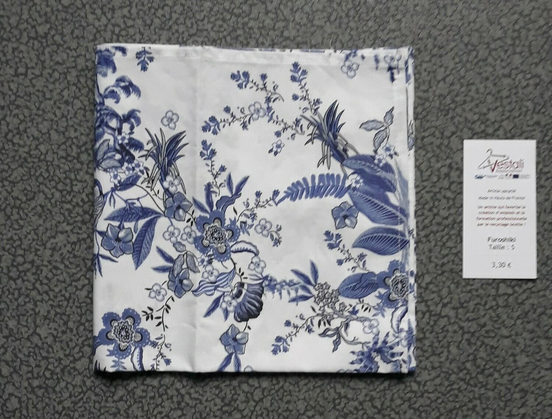 Furoshiki - Taille S - Fleurs bleues