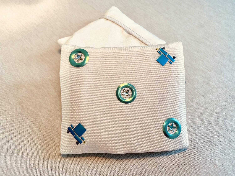 Pochette 5 Lingettes Double compartiment - Strass cercle