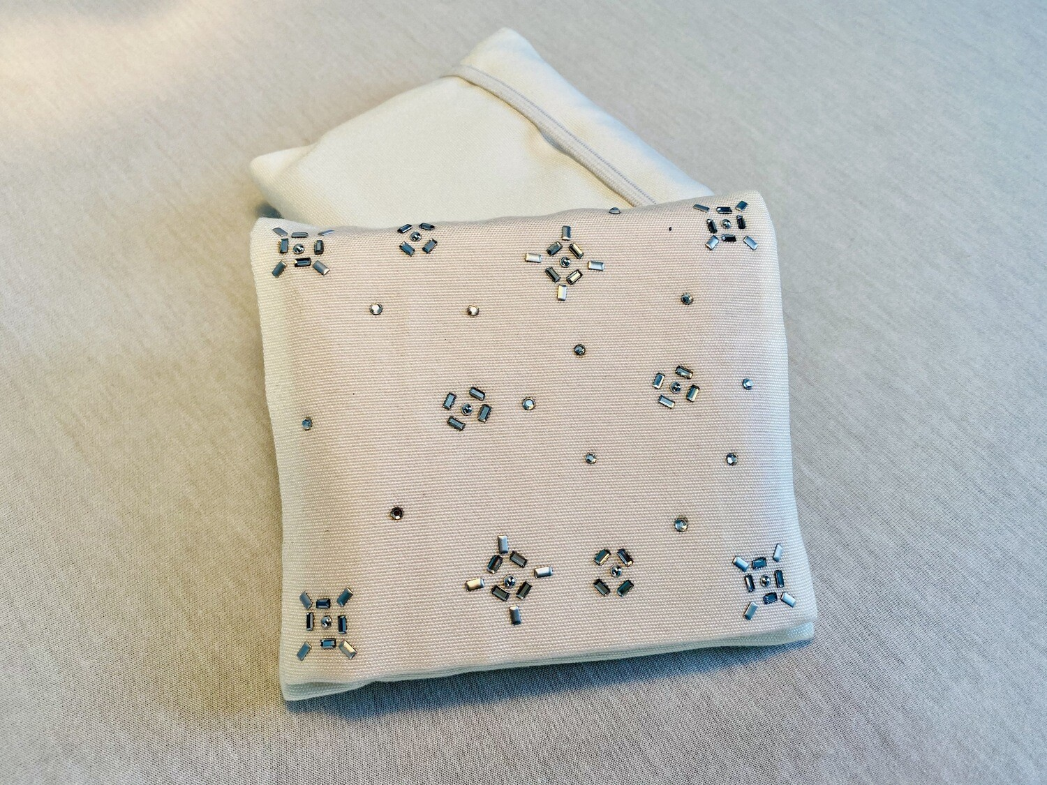 Pochette 5 Lingettes Double compartiment - Strass flocons2