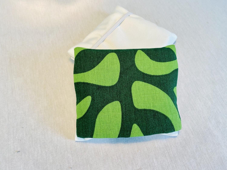 Pochette 5 Lingettes Double compartiment - Organic vert
