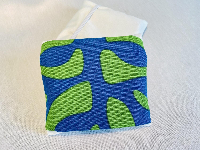 Pochette 5 Lingettes Double compartiment - Organic bleu