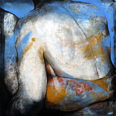 Blue Love 130 x 130 cm
