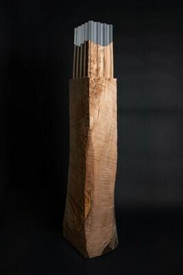 Columen de noyer de Chine 44 x 37 x 160 cm