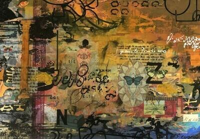 Paysage rembobiné 34,5 x 49,5 cm