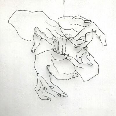 Discussion avec Dürer 100 x 100 cm