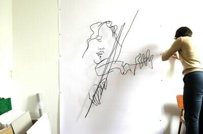 Violon rock au Silencio 110 x 150 cm