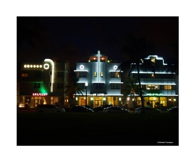 South Beach Art Deco at night
