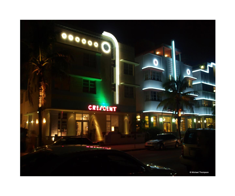 South Beach Art Deco at night2