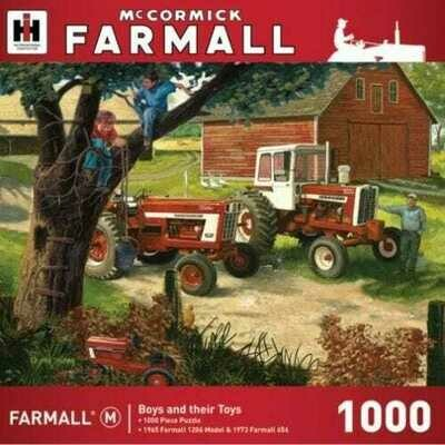 1000 Piece Puzzle - Boys And Their Toys, McCormick Farmall