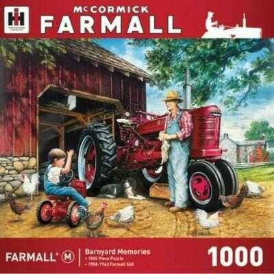 1000 Piece Puzzle - Barnyard Memories, McCormick Farmall