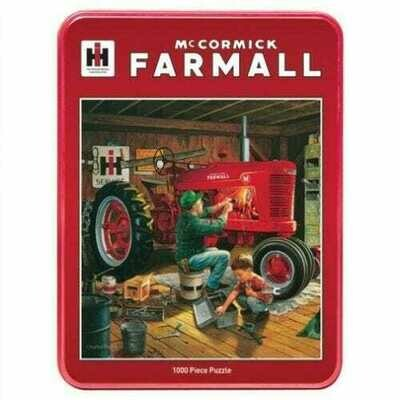1000 Piece Puzzle With collectible Tin - Forever Red, McCormick Farmall