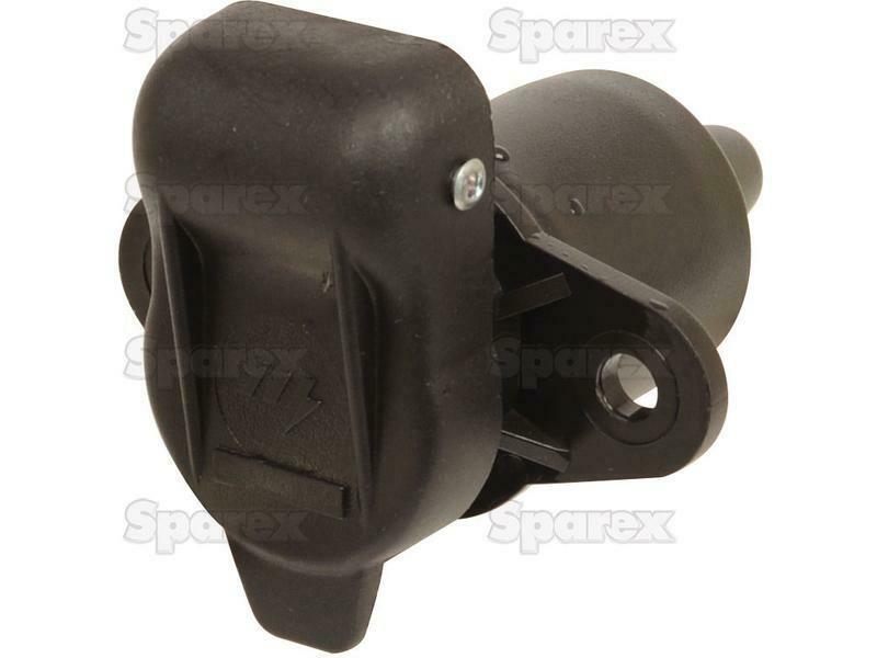 3 Pin Auxiliary Socket With 2 bolt Fixing Female Pin (Plastic)