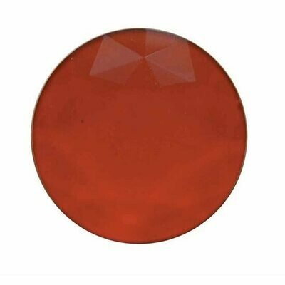 1 3/8 Inch Glass Jewel Lens For Dome Light Red