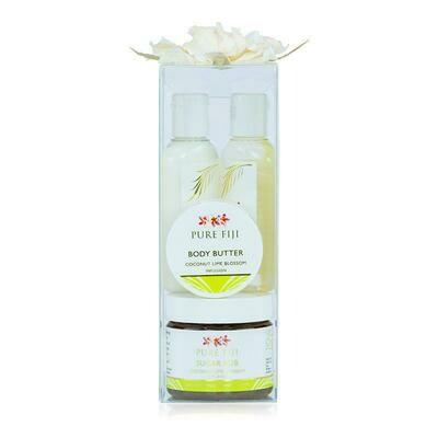 Pure Fiji Sugar Glow Spa Box - Coconut Lime blossom