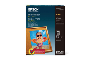 Epson Glossy Photo Paper - 8.5 x 11inch - 20 sheets