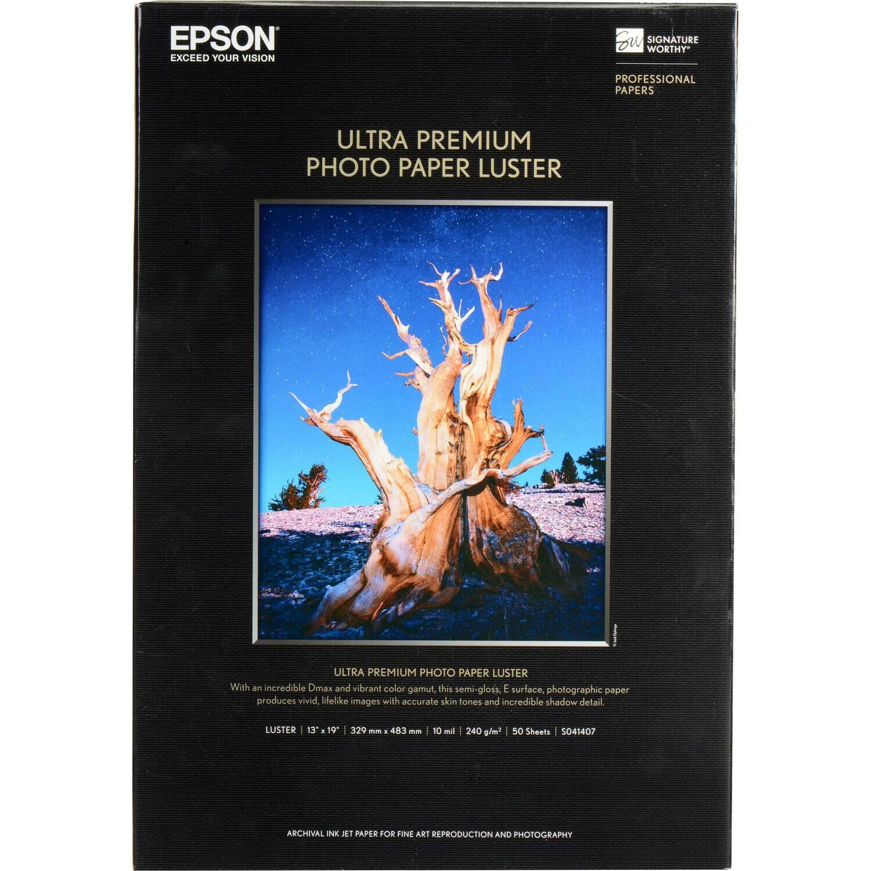 Epson Photo Paper Luster Ultra Premium..8.5X11 50CT