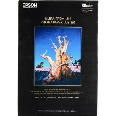 Epson Photo Paper Luster Ultra Premium..8.5X11 50CT