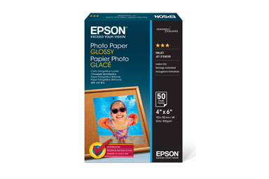 "Epson Photo Paper Glossy, 4"" x 6"", 50 Pack"